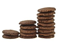 Free Three Step Stack Cookie Stock Photography - 34701472