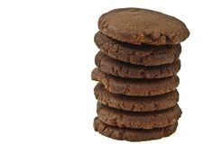 Chocolate Cookie Stack Royalty Free Stock Photos