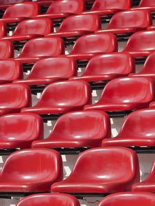 Free Empty Red Seats Stock Image - 34701851