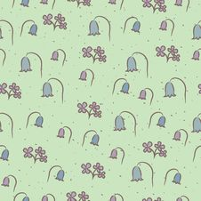Free Seamless Floral Pattern With Flowers Bells. Stock Photography - 34703612