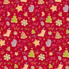 Free New Year Pattern Red Stock Photo - 34703880