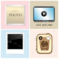 Free Different Set Of Retro And New Photographic Subjects Stock Photo - 34704180