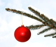 Free Red Christmas Ball Stock Photos - 34705473
