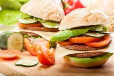 Free Sandwiches Royalty Free Stock Image - 34706596