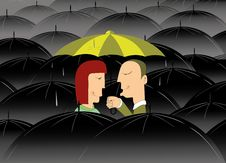 Free Where Is No Bad Weather If You Are In Love Royalty Free Stock Image - 34706876