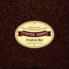 Free Coffee Menu Royalty Free Stock Photos - 34706878