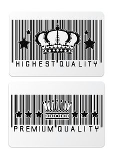 Free Royal Crown Barcode Shopping Labels Royalty Free Stock Photos - 34706908