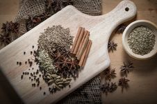 Free Spices, Cooking Ingredients Royalty Free Stock Photography - 34707307