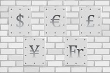 Free The Money S Wall Of Fame Royalty Free Stock Images - 34708859