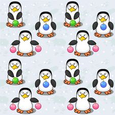 Free Seamless Background With Penguins Royalty Free Stock Photo - 34709885