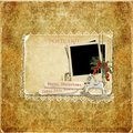 Free Vintage Background With Christmas Cards And Decorations Royalty Free Stock Photo - 34710765