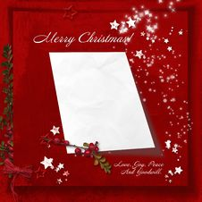 Free Red Christmas Background With Space For Letters To Santa Royalty Free Stock Image - 34710666