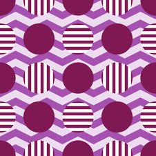 Abstract Geometric Pattern Circles And Zigzag Stock Images
