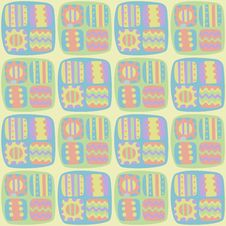 Free Seamless Abstract Pattern In Pastel Colors Stock Photography - 34713472