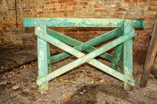 Free A Green Sawhorse Royalty Free Stock Image - 34714206