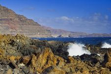 Free Coast Of Lanzarote Royalty Free Stock Image - 34717296