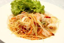 Free Green Papaya Salad Stock Photography - 34718762