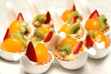 Free Delicious Fruit Tart Witth Peach And Strawberries Royalty Free Stock Photo - 34718825