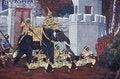 Free Mural Of Ramayana In Wat Pra Kaew, Bangkok, Thailand Royalty Free Stock Photos - 34724508