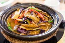 Chinese Food,Stew Eggplant Stock Photography