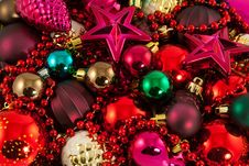 Colorful Xmas Toys Stock Photography