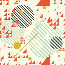 Seamless Geometric Abstract Chaotic Pattern