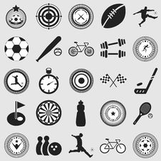 Free Sports Icons Royalty Free Stock Photos - 34723788