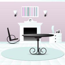 Living Room Decor Vector Illustration Stock Images