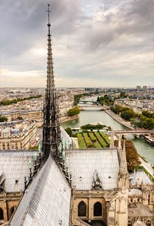 Free Paris View From Notre Dame Cathedral Royalty Free Stock Images - 34728429