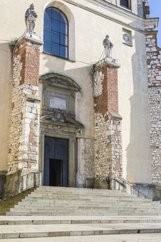 Entrance ,Benedictine Abbey In Tyniec Stock Photo