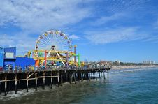 Free Santa Monica Pier Royalty Free Stock Photos - 34734218
