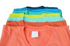 Colorful T-shirt Royalty Free Stock Photography