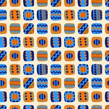 Seamless Pattern With Abstract Elements Stock Photo