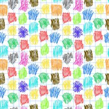Free Seamless Pattern With Colour Scrawl Stock Images - 34742694