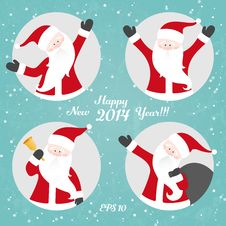 Free Vector Christmas Set With Santa Royalty Free Stock Photo - 34743065