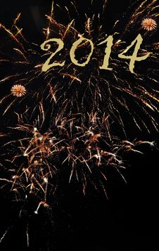 Free New Year 2014 Stock Image - 34745591