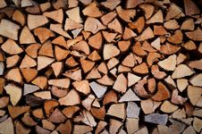 Fire Wood Stack Royalty Free Stock Photography