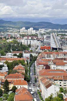 Ljubljana - City Panorama Stock Photography