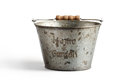 Free Tin Bucket On A White Background  With Clipping Path Stock Images - 34757084