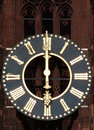 Free Antique Church Tower Clock Royalty Free Stock Photo - 34758035