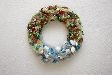 Christmas Wreath Decoration For Walls Stock Photo
