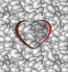 Abstract Heart Care Concept Stock Photos