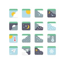 Free Weather Icon Set Stock Image - 34757111
