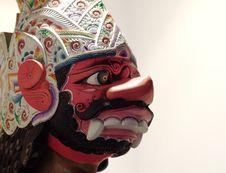 Jawanese Wayang Puppet Head Royalty Free Stock Photography