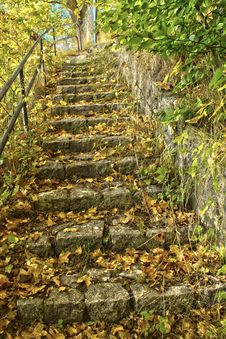 Free Stairs Made of Natural Stone Royalty Free Stock Photography - 34758277