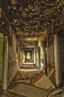 Free Devastated, Destroyed The Hotel Corridor Stock Photos - 34759473