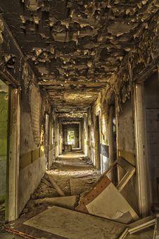 Free Devastated, Destroyed The Hotel Corridor Stock Photos - 34759473