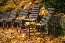 Free Autumn Bench Royalty Free Stock Images - 34761879