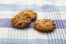Free Chocolate And Wheat Cookies Stock Image - 34765371