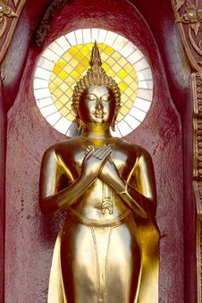 Free Gold Buddha Statue Mirror Background Royalty Free Stock Photography - 34774197